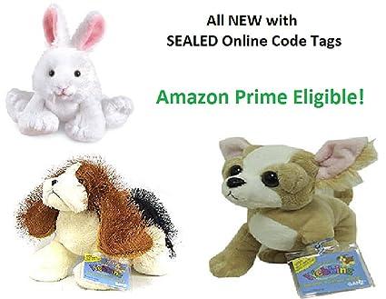 Amazon com: Webkinz Bundle w/ Sealed Code Tags - Includes Basset