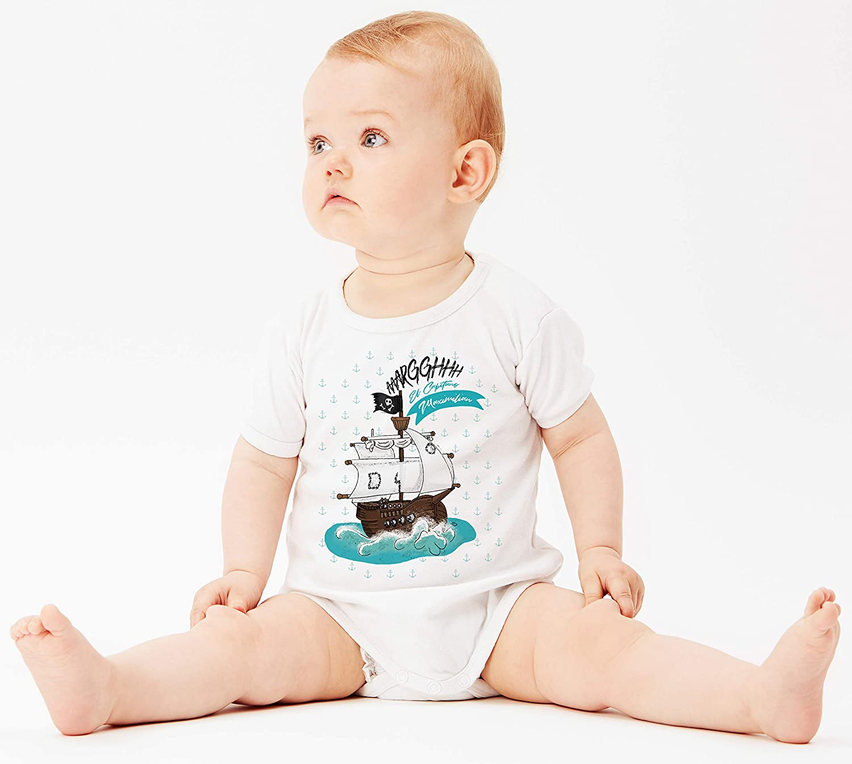 motivo: nave pirata con nome a scelta BS011 Body per neonato
