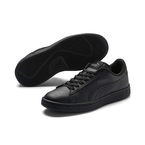 Puma Unisex Kids Smash V2 L Jr Low-Top Sneakers Black  Amazon.co.uk ... e72be9369e