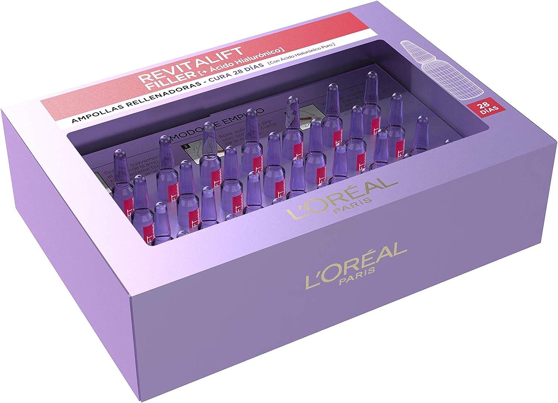 L Oreal Paris Dermo Expertise Revitalift Filler Tratamiento Intensivo Hialurónico Pack 28 Ampollas Amazon Es Belleza
