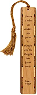 product image for Personalized Poetry Quote by Robert Frost, Engraved Wooden Bookmark with Tassel - Search B01721NQJ6 for Non-Personalized Version