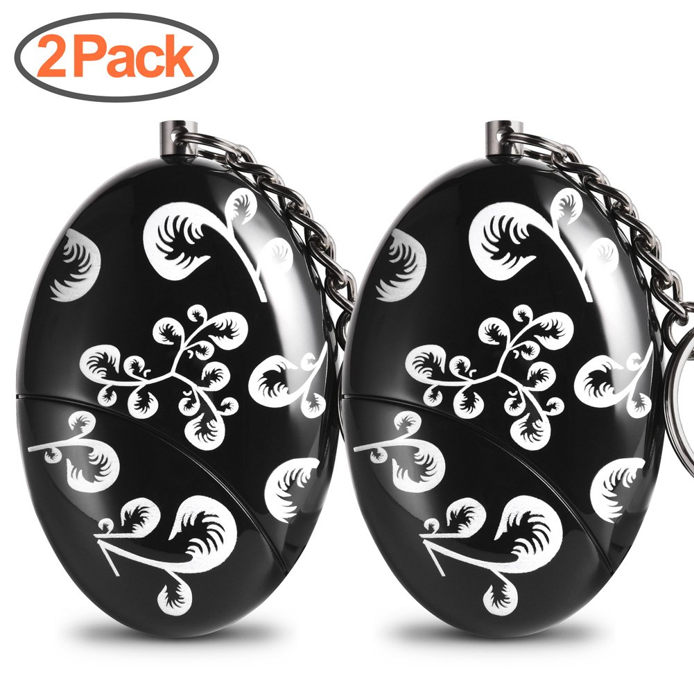 Personal Alarms for Women Foaber Personal Alarm Keychain Purse Self Defense Keychain Safe Sound 120-130 dB Alarm Device for Women Elderly Kids Night Workers