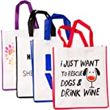 iHeartDogs Reusable Grocery Totes | Pack of 4 | Every Set Purchased Helps Feed Shelter Dogs