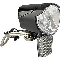 FISCHER Dynamo Led-fietslamp, 70 lux, fietslamp met parkeerlichtfunctie, led-fietslamp met automatische schemering