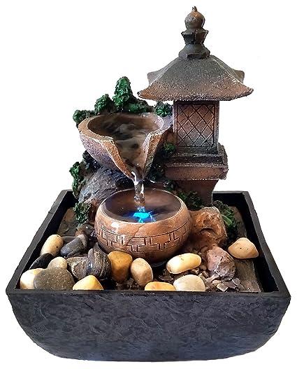 Fontane Zen Vendita.Fontana Zen Feng Shui In Poliresina Lanterna