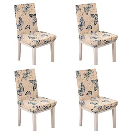 Stretch Short Removable Chair Seat Cover Slipcovers For Living Dining Room Wedding Party Covers