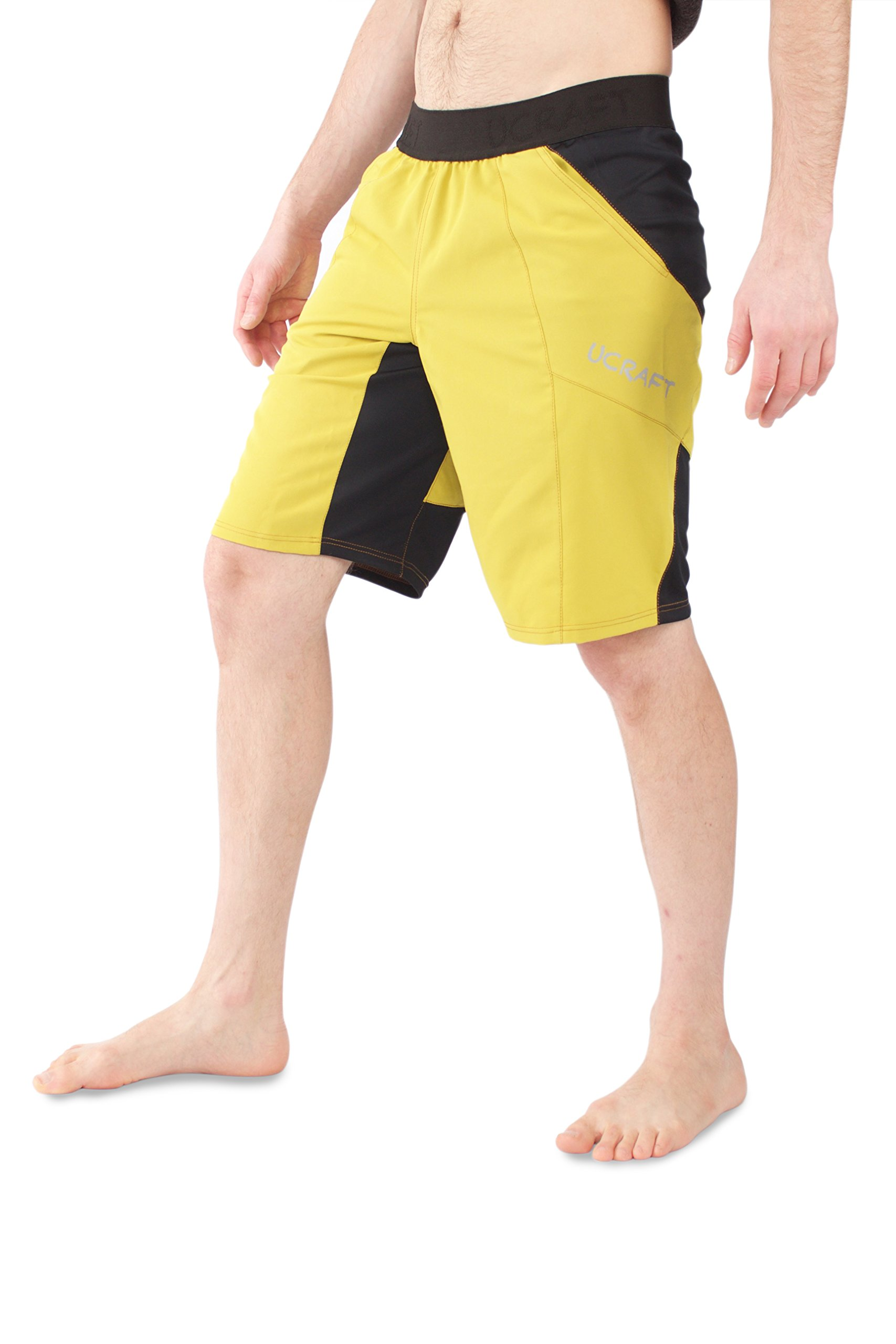 Ucraft Climbing Anti-Gravity Shorts. Stretchy, Lightweight and Breathable Multisport Shorts. (Yellow, M) by Ucraft