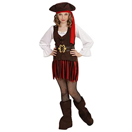 WIDMANN 65636 infantil Disfraz Pirata niña, Girls, 128 cm ...
