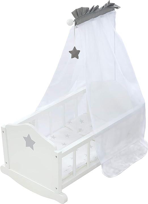 Roba 98535 Stella - Cuna para muñecas, color blanco: Amazon.es: Bebé