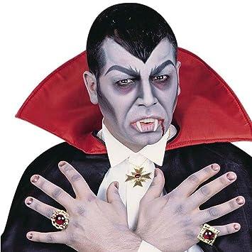 NET TOYS Conjunto de Collar y Dos Anillos de Drácula gótico ...