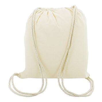 da5d29132f eBuyGB Pack de 10 enfants coton Drawstring sac à dos - Gym, natation, Sports