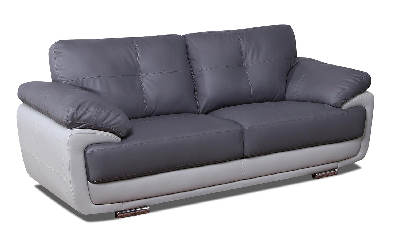 Sofá cama de la fábrica de piel de zuco con contraste ...