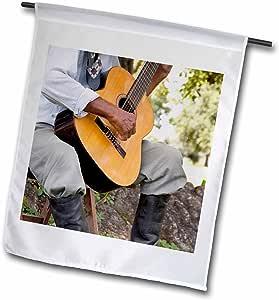 Danita Delimont - Music - Argentina, Buenos Aires, Gaucho musician - SA01 CMI0027 - Cindy Miller Hopkins - 12 x 18 inch Garden Flag (fl_85221_1)
