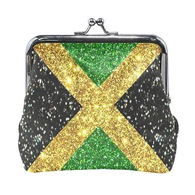 Amazon.com: Glitter Jamaica bandera de orgullo monedero con ...