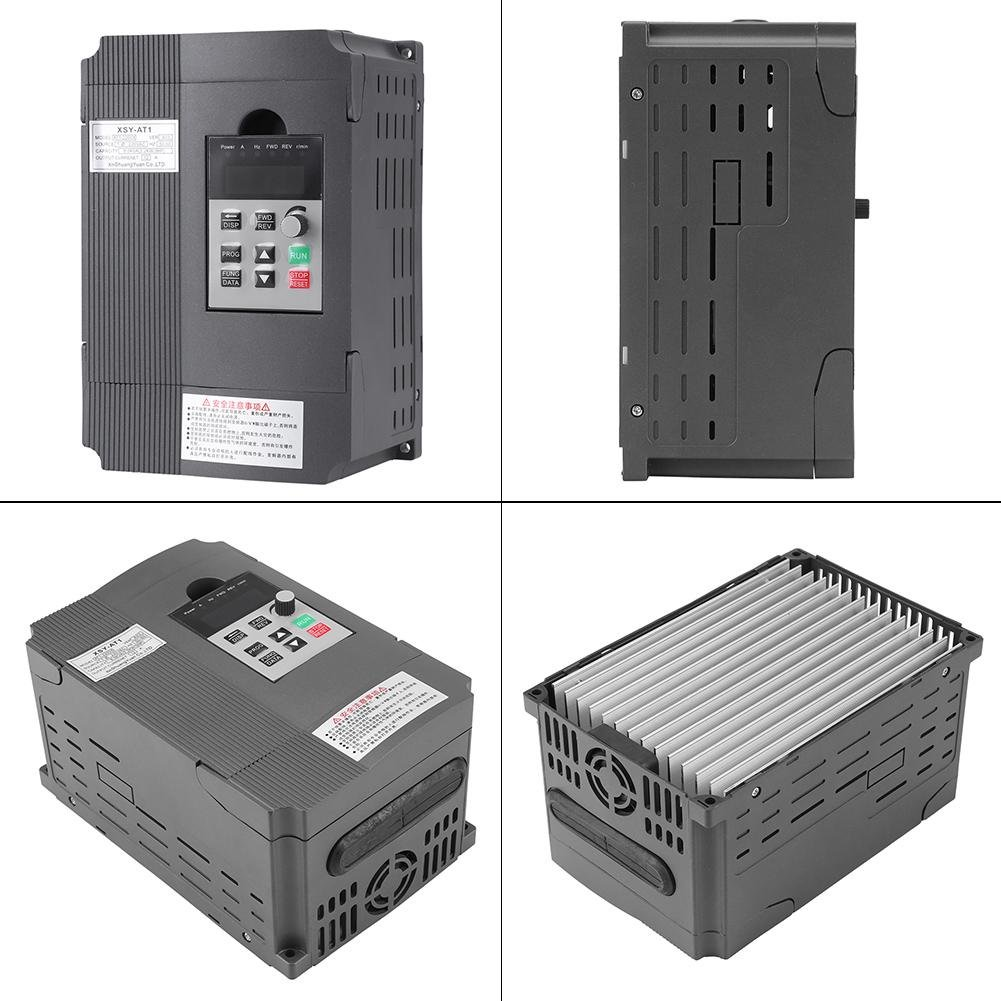 VFD Inverter Single to 3 Phase, 220V Variable Frequency Drive,Low Noise and Low Electromagnetic Interference,Large Torque,Speed Controller for 3-Phase 2.2KW AC Motor by Thincol (Image #3)