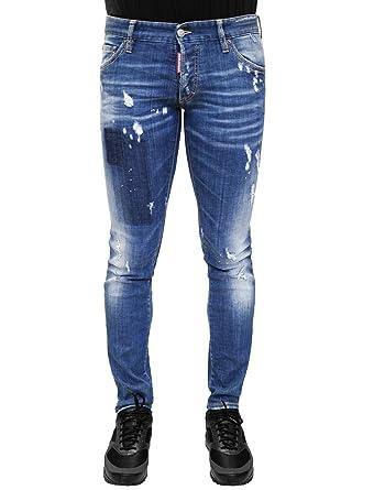 Amazoncom Dsquared2 Distressed Clement Denim Jeans Dsquared D2