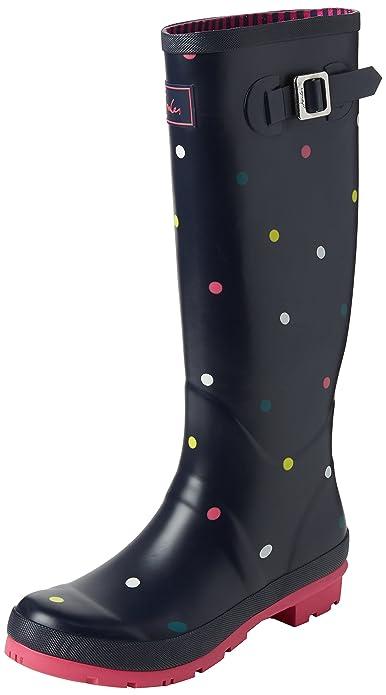 JoulesWellyprint - Botas de Agua de Trabajo Mujer, Color Azul, Talla 36: Amazon.es: Zapatos y complementos