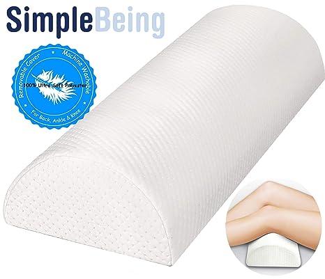 Amazon.com: Sencilla almohada de media luna con soporte para ...