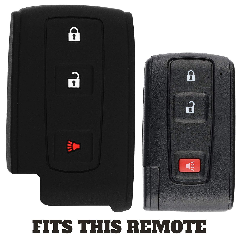 MOZB31EG KeyGuardz Keyless Entry Remote Car Smart Key Fob Outer Shell Cover Soft Rubber Case for Toyota Prius MOZB31TG
