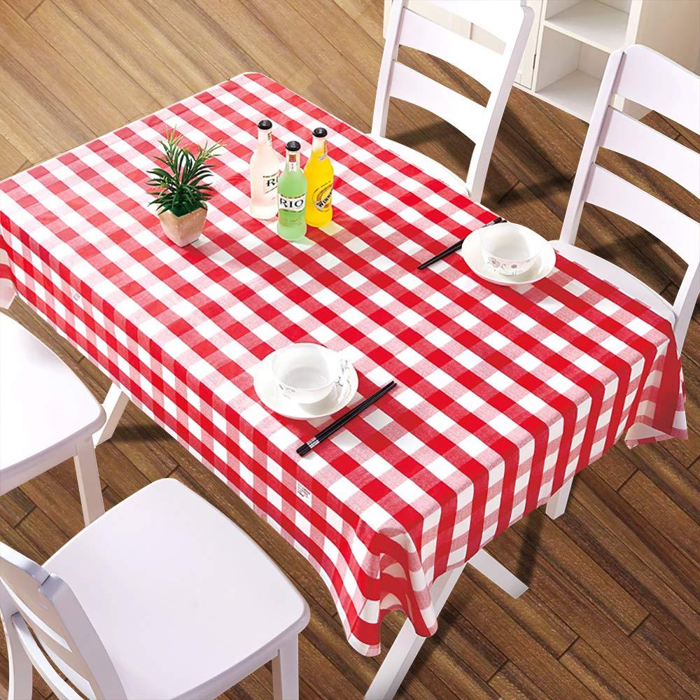 Etmury プラスチックテーブルクロス 5枚パック 使い捨て長方形テーブルカバー 54インチ x 108インチ。 屋内または屋外のテーブル 68フィートのテーブル用 パーティー 誕生日 結婚式 クリスマス グリーンとホワイト 47