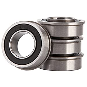 "XiKe 4 Pack Flanged Ball Bearings 3/4"" x 1-3/8"" x 1/2"" inch. Applicable Lawn Mower, Wheelbarrows, Carts & Hand Trucks Wheel Hub, Replacement or JD AM118315, AM127304, Toro 110513, 251-210 Etc."