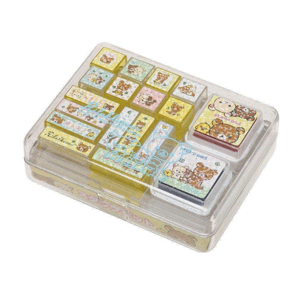San-X Rilakkuma Stamp Set 1 (Happy Life with Rilakkuma) FT34901