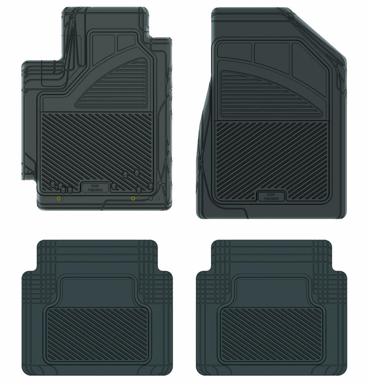 Koolatron Pants Saver Custom Fit 4 Piece All Weather Car Mat for Select Toyota Camry Models Grey