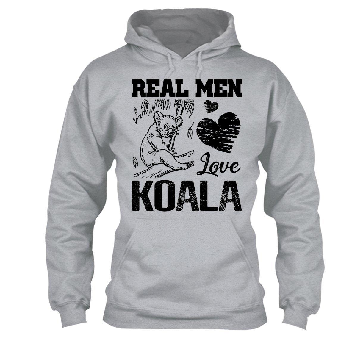 Real Men Love Koala Tee Shirt Design Long Sleeve Shirt