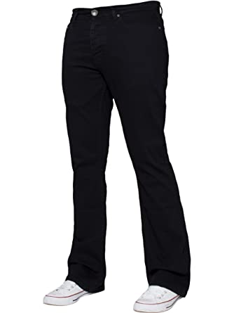 2f90b4ef3e9 APT Mens Bootcut Wide Leg Jeans Flared Stretch Denim Jeans  Amazon.co.uk   Clothing