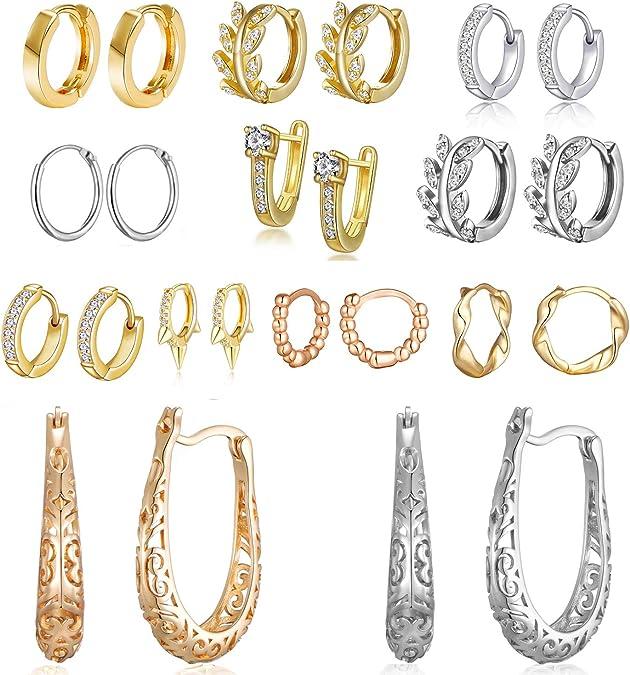 Silver Hoop Earrings Gold Hoop Earrings Large Hoop Earrings Pearl and Kundan Hoop Earrings Rose Gold Earrings Small Hoop Earrings Hoop