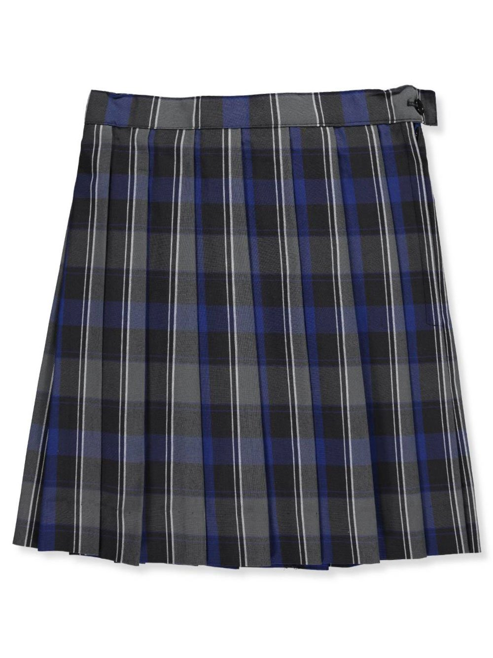 Cookie's Brand Little Girls'Ruby Pleated Skirt - Gray/Royal/whiteplaid