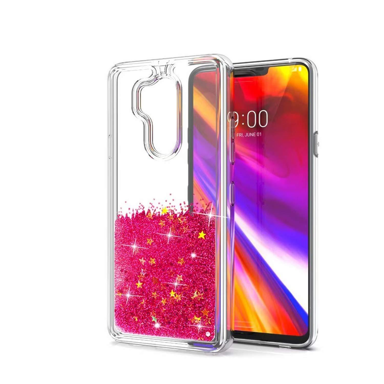 DAMONDY LG G7 Case, LG G7 ThinQ Case, 3D Moving Stars Bling Liquid Glitter Floating Dynamic Flowing Ultra Clear Soft TPU Case LG G7 2018 Release-blue