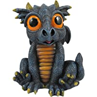 World of Wonders - Dreamland Dragons Series - Brimstone, Black Mini Dragon Figurine