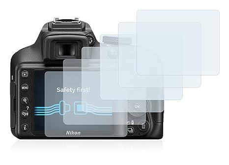 Savvies Protector de Pantalla para Nikon D3400 [6 Unidades] - Transparente