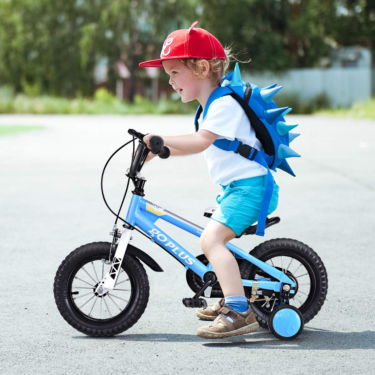 d854b3d9997 Amazon.com   Goplus Freestyle Kids Bike Bicycle 12inch  16inch  20inch  Balance Bike with Training Wheels for Boy s and Girl s   Sports   Outdoors