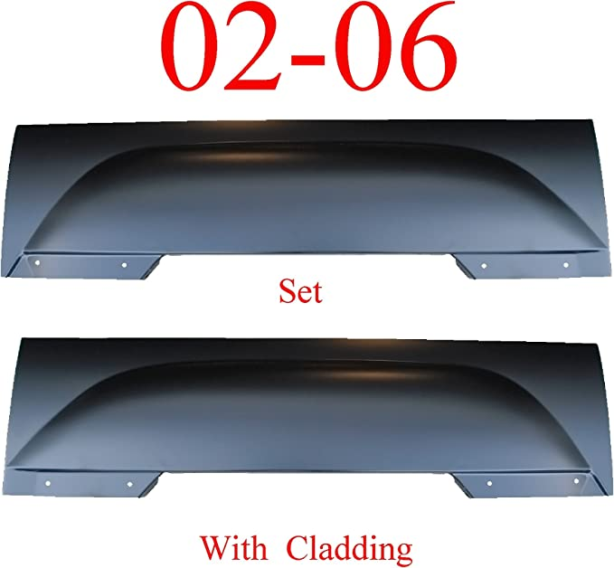 New Front Left Side Wheel Opening Molding For 2002 Chevrolet Avalanche Lower Cladding Gray GM1292111 15086333 Trim