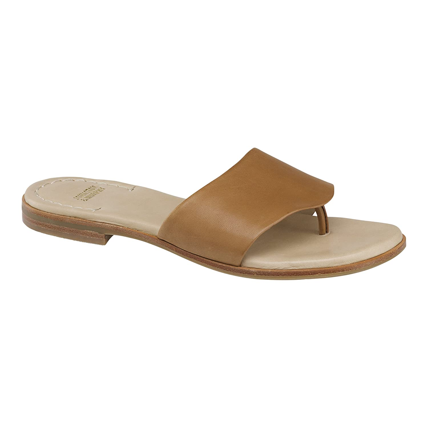 Johnston & Murphy Women's Raney Camel Flat Sandal B079TZKFVW 11 B(M) US|Camel Glove Leather