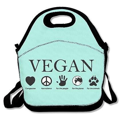 4e5b76f223 Amazon.com  ANIMAL RIGHTS Vegan Vegetarian Lunch Bags Insulated ...
