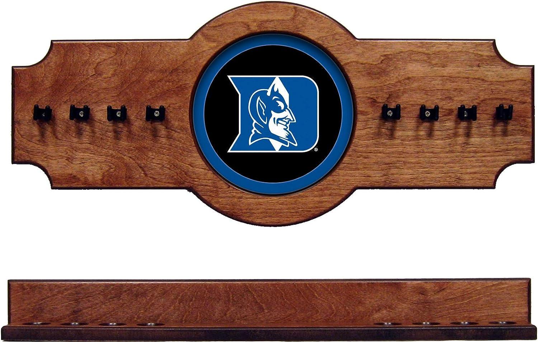 NCAA DukeブルーDevils dukcrr500-p 2 pc吊り壁プールキュースティックホルダーラック – Pecan