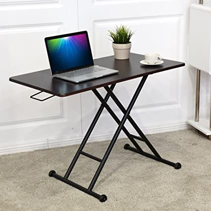 Tangkula Height Adjustable Standing Desk Converter Raise Up Workstation  Sit Stand Folding Elevating Computer
