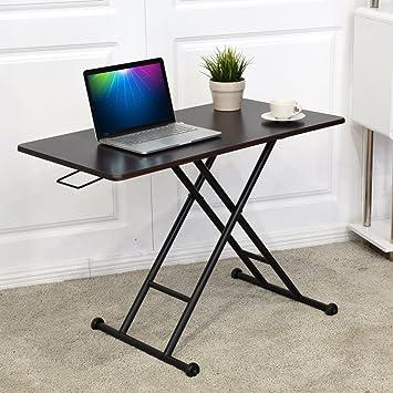 Tangkula Height Adjustable Standing Desk Converter Raise Up Workstation  Sit Stand Folding Elevating Computer