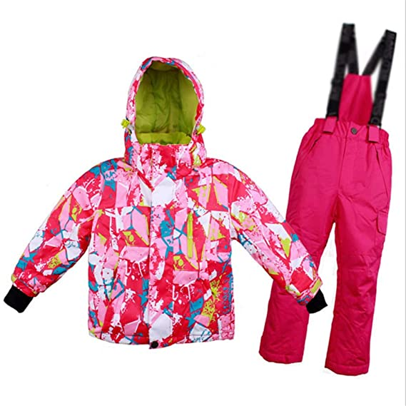 a461be8ba Keamallltd Kids Ski Suit Winter Waterproof Windproof Thicken Warm ...