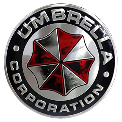 YSpring Resident Evil Car Badge Decal 2.95in Dia Umbrella Corporation 3D Aluminum Alloy Circle Car Motorcycle Emblem Sticker(Style A-1 pcs): Automotive