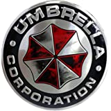 YSpring Resident Evil Car Badge Decals 2.95in Diameter Circle Umbrella Corporation 3D Metal Car Stickers(Style A)