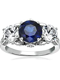 Sterling Silver and Gemstone Engagement Ring