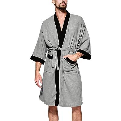 Dolamen Albornoz para Hombre y Mujer, Suave y Ligero Algodón Camisón, Robe Albornoz Dama de Honor Ropa de Dormir Pijama, para SPA Hotel Sauna: Ropa y accesorios