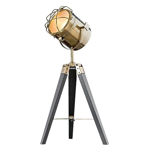 Vintage Stehleuchte TRIPOD Messing Schwarz 65 Cm E14 Tischlampe Wohnzimmerlampe Stehlampe Amazonde Beleuchtung