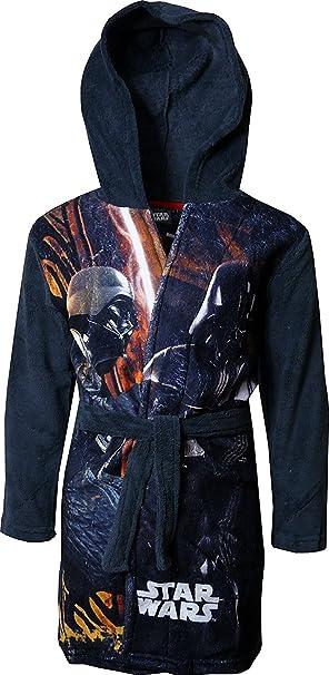 Star Wars Niños Suave paño grueso y con capucha Bata de baño ...