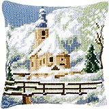Vervaco - Set per cuscino a punto croce, soggetto: paesaggio alpino 2