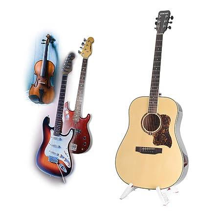 Plegable Soporte para guitarra eléctrica acústica soporte portátil - Soporte Color blanco: Amazon.es: Instrumentos musicales